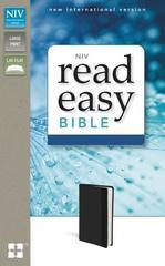 NIV, ReadEasy Bible, Large Print, Imitation Leather, Black, Red Letter Edit