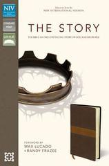 NIV, The Story, Imitation Leather, Brown/Tan: The Bible as One Continuing S