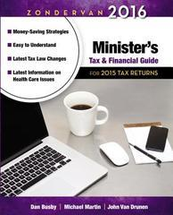 MINISTER'S TAX AND FINANCIAL GUIDE FOR 2015