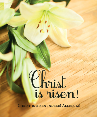 Christ Is Risen! Easter Lilies Bulletin, Large (Pkg of 50)