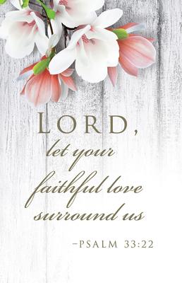 Faithful Love Wedding Bulletin (Pkg of 50)