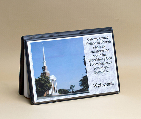 Attendance Registration Pad Holder with Front Cover Pocket - Black (Pkg of 6)