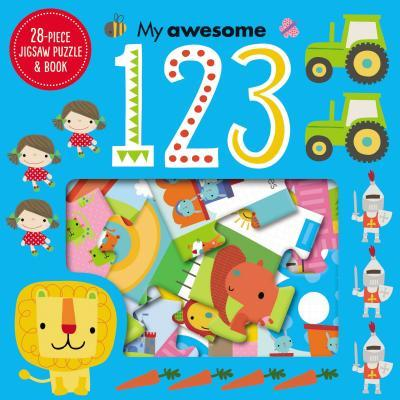 Jigsaw Puzzle and Book My Awesome 123