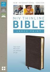 NIV THINLINE BIBLE LARGE PRINT BROWN