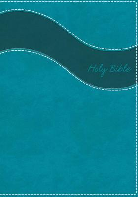 NIV, Gift Bible, Imitation Leather, Blue, Indexed, Red Letter Edition