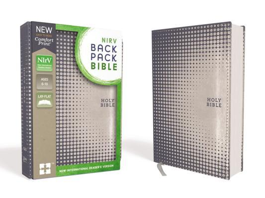 NIRV Backpack Bible, Imitation Leather, Blue/Silver