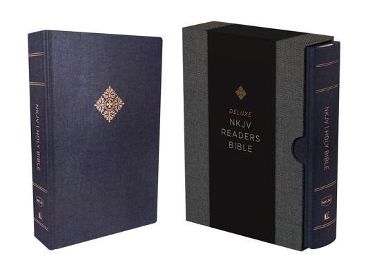 NKJV, Deluxe Reader's Bible, Cloth Over Board, Blue