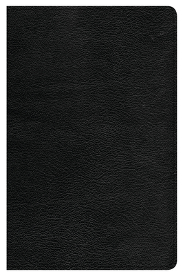 CSB Large Print Personal Size Reference Bible, Black Genuine Leather