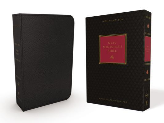 NKJV, Minister's Bible, Genuine Leather, Black, Red Letter Edition