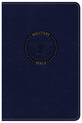 CSB Military Bible, Navy Blue Leathertouch