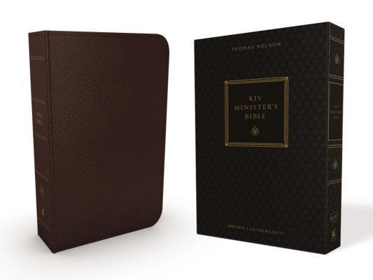 KJV, Minister's Bible, Imitation Leather, Brown, Red Letter Edition