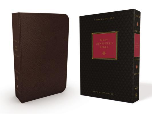 NKJV, Minister's Bible, Imitation Leather, Brown, Red Letter Edition