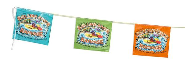 Vacation Bible School (Vbs) 2018 Rolling River Rampage String Flags: Experience the Ride of a Lifetime with God!