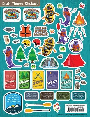 Vacation Bible School (Vbs) 2018 Rolling River Rampage Craft Theme Stickers (Pkg of 12): Experience the Ride of a Lifetime with God!