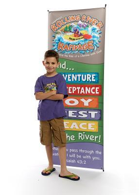Vacation Bible School (Vbs) 2018 Rolling River Rampage Theme Banner: Experience the Ride of a Lifetime with God!