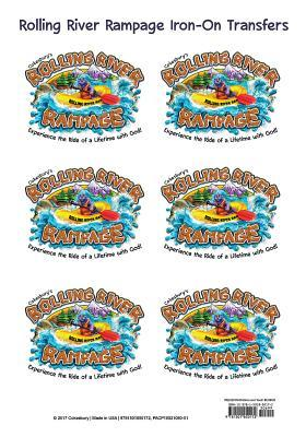 Vacation Bible School (Vbs) 2018 Rolling River Rampage Iron-On Transfers (Pkg of 12): Experience the Ride of a Lifetime with God!