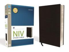 NIV STUDY BIBLE LARGE PRINT BLACK