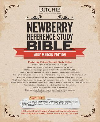 Newberry Reference Bible Wide Margin Edition