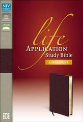 NIV LIFE APPLICATION STUDY BIBLE LARGE PRINT BURGUNDY