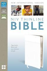 NIV THINLINE BIBLE STANDARD PRINT WHITE