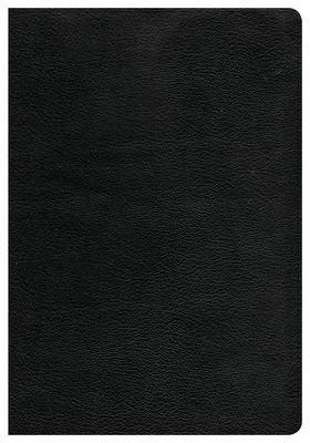 CSB Giant Print Reference Bible, Black Genuine Leather, Indexed