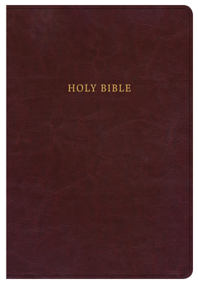 NKJV Super Giant Print Reference Bible, Classic Burgundy Leathertouch