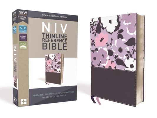 NIV, Thinline Reference Bible, Imitation Leather, Purple, Red Letter Edition, Comfort Print