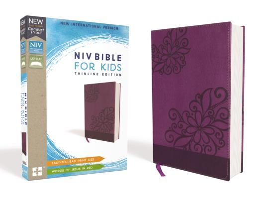 NIV Bible for Kids, Leathersoft, Purple, Red Letter Edition, Comfort Print