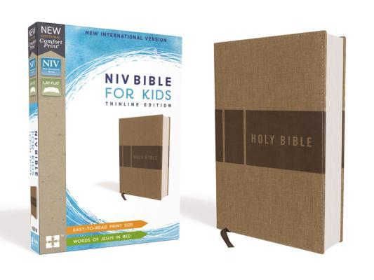 NIV Bible for Kids, Leathersoft, Tan, Red Letter Edition, Comfort Print
