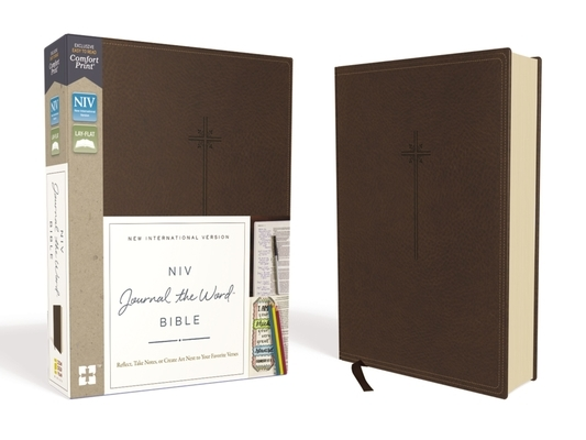 NIV, Journal the Word Bible, Imitation Leather, Brown, Red Letter Edition, Comfort Print