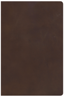 KJV Super Giant Print Reference Bible, Brown Genuine Leather, Indexed
