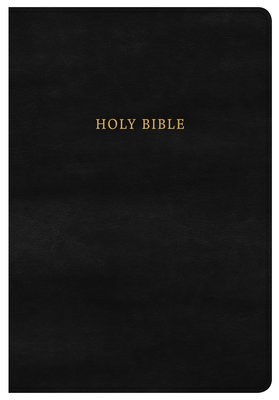 KJV Super Giant Print Reference Bible, Classic Black Leathertouch