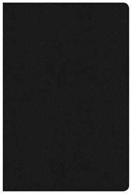NKJV Large Print Ultrathin Reference Bible Black Letter Edition, Premium Black Genuine Leather, Indexed