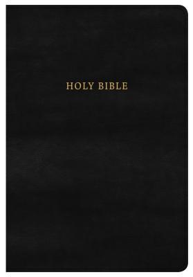 KJV Super Giant Print Reference Bible, Classic Black Leathertouch, Indexed