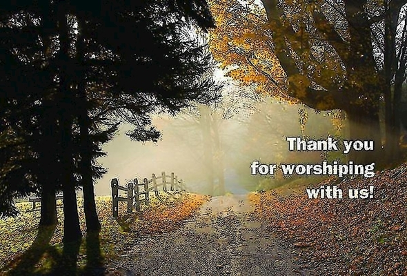 Thank You for Worshiping with Us! Postcard (Pkg of 25)