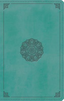 ESV Large Print Thinline Bible (Trutone, Turquoise, Emblem Design)