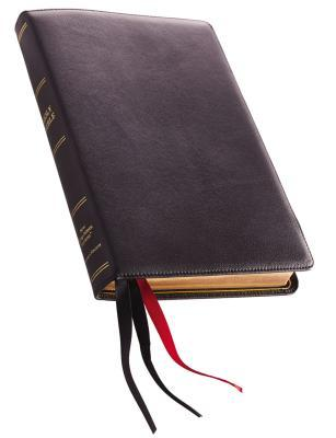 NKJV, Thinline Reference Bible, Large Print, Premium Leather, Black, Sterling Edition, Comfort Print