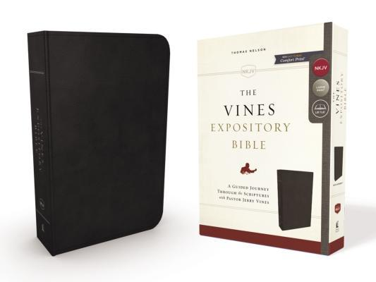 NKJV, the Vines Expository Bible, Imitation Leather, Black, Red Letter Edition
