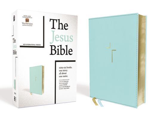 The Jesus Bible, NIV Edition, Leathersoft, Blue, Comfort Print