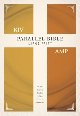 KJV, Amplified, Parallel Bible, Large Print, Hardcover, Red Letter Edition