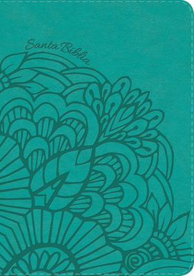Rvr 1960 Biblia Letra Gigante Aqua, Simil Piel