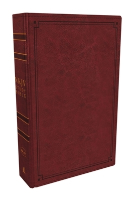 NKJV Study Bible, Imitation Leather, Red, Red Letter Edition, Comfort Print