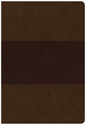 CSB Super Giant Print Reference Bible, Saddle Brown Leathertouch, Indexed