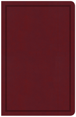 CSB Deluxe Gift Bible, Burgundy Leathertouch