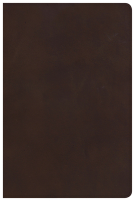 CSB Large Print Ultrathin Reference Bible, Brown Genuine Leather, Black Letter Ed