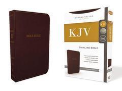 KJV THINLINE BIBLE BURGUNDY STANDARD PRINT