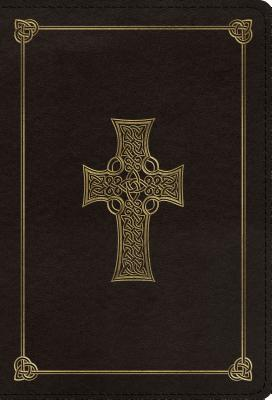 ESV Large Print Compact Bible (Trutone, Charcoal, Celtic Cross Design)