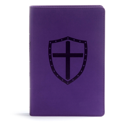 CSB Defend Your Faith Bible, Plum Leathertouch