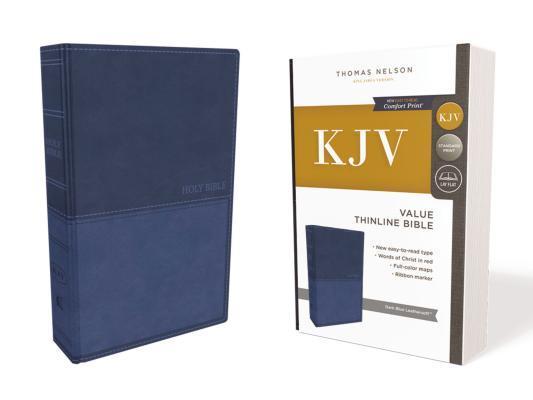 Kjv, Value Thinline Bible, Leathersoft, Blue, Red Letter Edition, Comfort Print