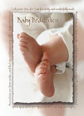 Baby Dedication Certificate (Pk of 6) - 5x7 Folded, Premium, Full Color